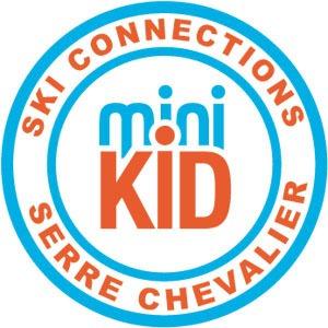 Médaille enfant ski niveau Minikids - Ski Connections - Ecole de Ski Serre Chevalier